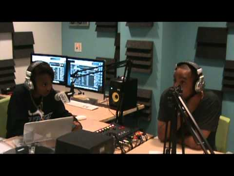 Ieisha Shelton interviewing rapper Krash Diesel on K Roo Radio