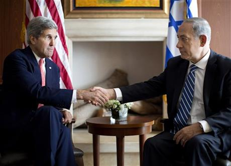 KERRY SEEKS MOVEMENT IN ISRAELI, PALESTINIAN TALKS