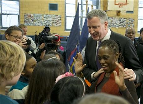 DE BLASIO VOWS SWEEPING CHANGE AS NYC'S NEXT MAYOR