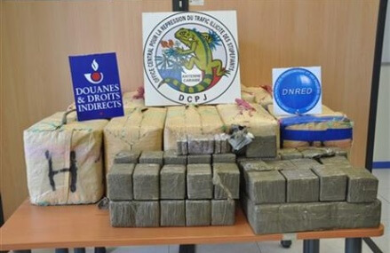 French agents make record hashish seizure on Martinique