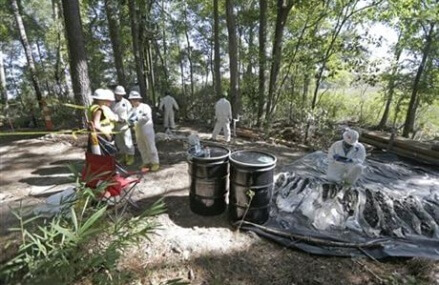 Residents of contaminated town wary of government efforts