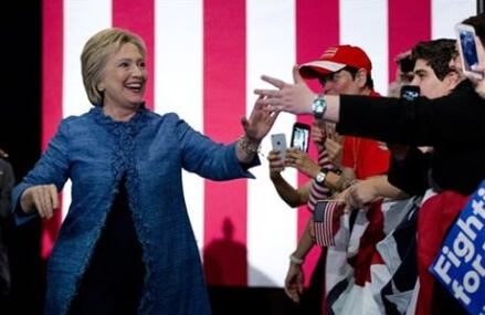 After a night of primary victories, Clinton looks ahead